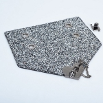 Triangular DG Cover with Heart Arrow Lock(BA000553) Color Ασημί / Silver