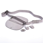 Kit Waist Bag Country, Eco-Leather Frame with Adjustable Belt(BA000623) Color Γκρι / Gray