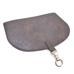 Oval Top Bag Cover with Metal Peg Lock, Elegand, 28cm. (ΒΑ000086) Color Καφέ / Brown