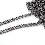 Metal Chain, Chanel Style,34TP(ΒΑ000531) Color Μαύρο νίκελ / Black nickel