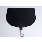 Oval Top Bag Cover with Metal Peg Lock, Elegand, 28cm. (ΒΑ000086) Color Μαύρο / Black