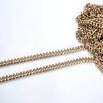 Metal Chain, Chanel Style,34TP(ΒΑ000531) Color Μπρονζέ / Bronze