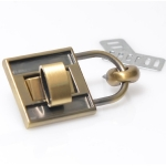 Metal Padlock, Turn Lock, Dolce Style(ΒΑ000263) Color Μπρονζέ / Bronze