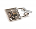 Metal Padlock, Turn Lock, Dolce Style(ΒΑ000263) Color Νίκελ /  Nickel