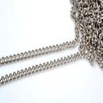 Metal Chain, Chanel Style,34TP(ΒΑ000531) Color Νίκελ /  Nickel