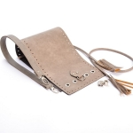Kit Erato Pouch Bag Full Frame and Base with Tassel Drawstring and Eyelets(ΒΑ000634) Color Μπεζ πούρου / Beige Cigaret