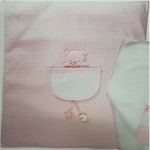 Cot quilt P1002 Color Ροζ / Pink