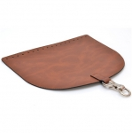 Oval Top Bag Cover with Metal Peg Lock, Elegand, 28cm. (ΒΑ000086) Color Ταμπά / Taba