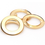 Two-Sided Metal O Rings with Prongs, 15mm (ΒΑ000283) Color Χρυσό / Gold