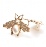 Bee Ornament with pearl, 2.5cm.(BA000546) Color Χρυσό / Gold