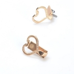 Metal Clip Closure with Mechanism, 3cm without Screws, Heart Snake(ΒΑ000573) Color 02