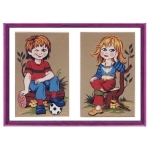 Canvas children Patterns Color 45x60  D292