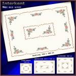 Embroidery Stamped Table Cover 180 x 180 - Cross-stitch No 13 Color 01
