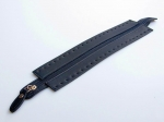 Simple eco-leather zipper, 25-30cm length. (ΒΑ000018) Color 01