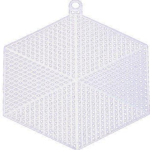 Ready Hexagon Made Plastic Canvas for Knitting Handbag  and accessories  14cm Χ 12cm. Color 01