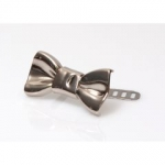 Metal Ornament, Bow, 4cm (BA000399) Color Νίκελ / Nickel
