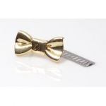 Metal Ornament, Bow, 4cm (BA000399) Color Χρυσό / Gold