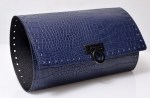 Kit Pochette Indigo Clutch Bag with Metal Lock, 28 x 49 cm (BA000405) Color Snake Blue