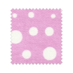 Polka dot 2-sided Fluffy Jersey  Color Πουά Ροζ-Λευκό / Pink-White
