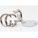Metal Ornament, Chanel Style with Feet(ΒΑ000410) Color Νίκελ /  Nickel