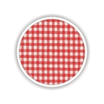 Children fabrics for printed sheets square shape Color Κόκκινο-Λευκό / Red-White