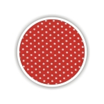 Children fabrics for printed sheets with dots Color Κόκκινο-Λευκό / Red-White