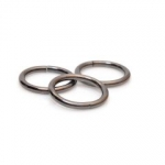 Metal Wire Ring  38mm (ΒΑ000278) Color Νο1 Ανθρακί