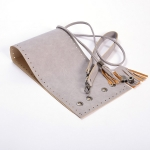 Kit Erato Pouch Bag Full Frame and Base with Tassel Drawstring and Eyelets(ΒΑ000634) Color Γκρι / Gray
