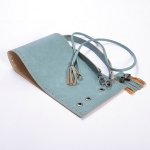 Kit Erato Pouch Bag Full Frame and Base with Tassel Drawstring and Eyelets(ΒΑ000634) Color Πετρόλ - πράσινο / Petrol-Green