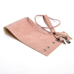 Kit Erato Pouch Bag Full Frame and Base with Tassel Drawstring and Eyelets(ΒΑ000634) Color Ροζ / Pink