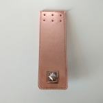 Eco Leather tongue with metal turn lock 21cm. Χ 7cm. (0303) Color Pink Gold