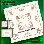 Embroidery Stamped Table Cover 180 x 180 - Cross-stitch No 11 Color 01