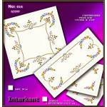 Embroidery Stamped Table Runner 105 Χ 50 cm & 2 Table Centers 50x50 cm - Cross-stitch Νο 16 Color 02