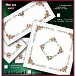 Embroidery Stamped Cloth Napkins ,4 pieces 50x50 cm - Cross-stitch Νο 20 Color 01
