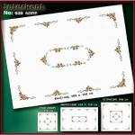 Embroidery Stamped Tablecloth 180 x 140 cm - Cross-stitch No 20 Color 01