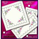 Embroidery Stamped Cloth Napkins ,4 pieces 50x50 cm - Cross-stitch Νο 21 Color 02