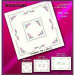 Embroidery Stamped Table Cover 180 x 180 - Cross-stitch No 21 Color 02