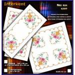 Embroidery Stamped Table Cover 90x90 - Cross-stitch No 24 Color 02