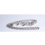 Metal Chain, Ready Made, 120cm, (ΒΑ000106) Color Νο1 Ασημί