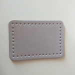 Eco Leather base for handmade bags 20,5Χ14εκ. (0202) Color Ασημί
