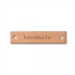 Eco Leather Label, 'Handmade,' Engraved, 403795 Color 403795