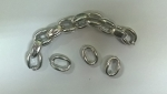 Chain Ring for bags Νο 103 Color 1 Ασημί