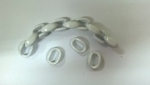 Chain Ring for bags Νο 103 Color 2 Λευκό