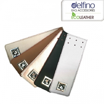Eco Leather tongue with metal turn lock 21cm. Χ 7cm. (0303)