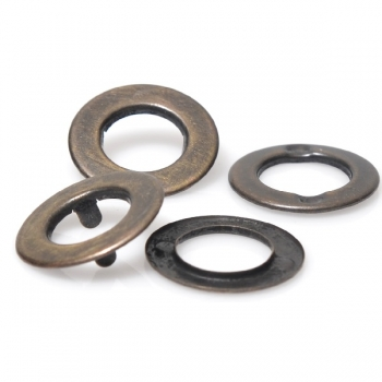 Two-Sided Metal O Rings with Prongs, 20mm(ΒΑ000282)