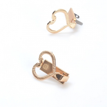 Metal Clip Closure with Mechanism, 3cm without Screws, Heart Snake(ΒΑ000573)
