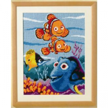 Cross stich Disney kit frame 30x40cm