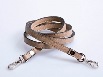 Narrow Eco Leather Strap with Metal Clips, 120cm (ΒΑ000014)