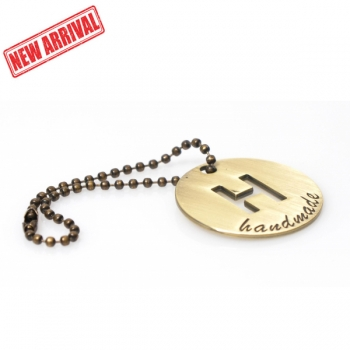 Hanging Metal Label 'Handmade' with Chain, 4cm (ΒΑ000402)