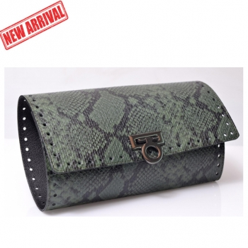 Kit Pochette Indigo Clutch Bag with Metal Lock, 28 x 49 cm (BA000405)